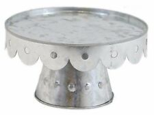 "Galvanized Metal Cake Stand Home Wedding Farm House Decor 10"" D NEW KK9225M-N"