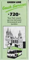 ORIGINAL LONDON COUNTRY GREEN LINE COACH TIMETABLE FOR SERVICE 720 - 1986