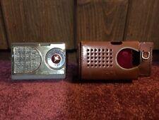 Rare Vtg Spica Transistor Radio ST-600 Japan + Case Grey Mercedes Dial