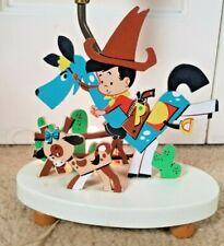 New listing Vintage Boy's Nursery Lamp Cowboy Little Buckaroo The Dolly Toy Co. 1950's