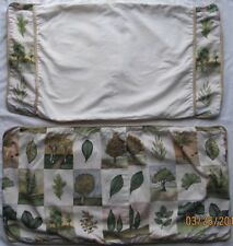 WAVERLY Luxury Collection~Trees & Leaves KING Pillow Shams (2)