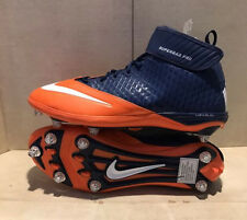 Nike Super Bad Pro Football Detachable Cleats 544762-406 Size 15 Drk Blue/Orange