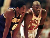 Kobe Bryant and Michael Jordan UNSIGNED 8X10 Photo