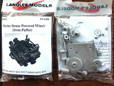 More details for marine steam winch om2b unpainted o scale langley models kit 1/43 boats metal