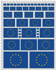 Self Adhesive Sticker decal EU flag for different scales model kits 20460