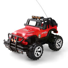 1/16 RC Car Remote Control 4WD Red Jeep Off-Road Vehicle Light Sound Kids Toy US