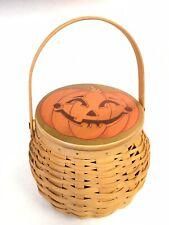 Longaberger 2001 Pumpkin Patch Basket with Lid Halloween October Jack o Lantern
