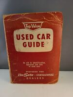 Vintage 1950's Desoto Plymouth Dealers Used Car Guide