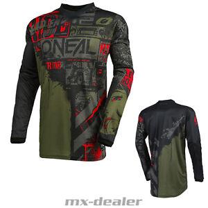 2021 O'Neal Élément Jersey Ride Noir Vert Tricot MX Dh MTB BMX Motocross