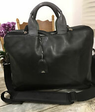 Extra Large Vintage Black Leather   Radley Londyn/ Work/Laptop Shoulder Bag