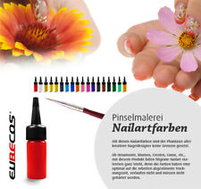 ONE STROKE Nailart Farbe Pinselmalerei  EuBeCos Acrylfarbe 14ml Farbe 01 ROT