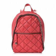 Stella McCartney Falabella Shaggy Deer Quilted Mini Backpack Pink Florescent