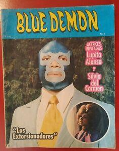 BLUE DEMON  num 5 COMIC IN SPANISH VINTAGE ORIGINAL  LIKE SANTO