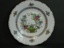"Herend Indian Basket Multi-Color Dessert/Pie Plate/s 8 1/4"", #1520/FD Rare Mint!"