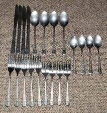 New listing Interpur stainless steel flatware florenz Lot Of 21 Very Nice 4 place settings