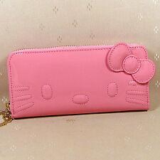 HelloKitty Zipper  Wallet Purse  2017  New Cute Pu Pink Bow   Long Size