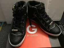 G BY GUESS BLACK MULTI FABRIC GLITTER HI TOP LACE UP WOMEN'S SIZE 6.5 M