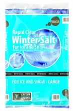 20kg Rapid Clear Rock Salt - Winter Grit for Paths Driveways Snow Ice Non-slip