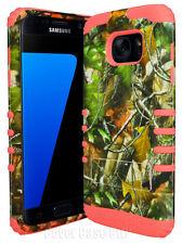 Oak Tree Mossy Camo Armor Hard & Soft Case for Samsung Galaxy S7 EDGE Dual Cover