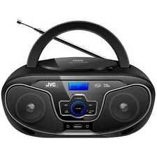 JVC Portable Bluetooth CD Player Boombox/USB/MP3/FM Radio/LCD Display 2x 4W Spkr
