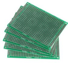 5x 6x8cm perforated grid board printed circuit board PCB board green Y5C1