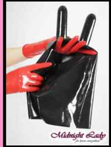 BLACK NEW LATEX RUBBER FEMALE HOTPANTS WITH INTERNAL SHEATH   BLACK   S L