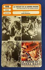 US Western The Treasure of The sierra Madre Bogart French Film Trade Card