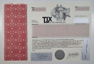 TJX Companies, Inc., 1998 Odd Shares Specimen Stock Certificate, VF SC-USBN