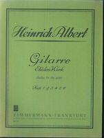 Gitarre Etüden Werk  von Heinrich Albert Heft 2