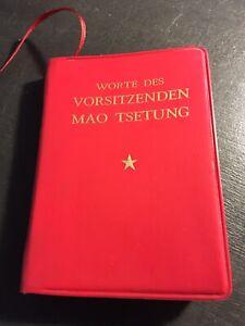Worte des Vorsitzenden Mao Tse-Tung China Mao Bibel 1972 in Mini Taschenformat