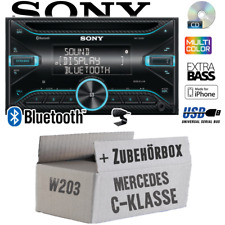 Sony Autoradio für Mercedes C-Klasse W203 2DIN Bluetooth CD USB iPhone Einbauset