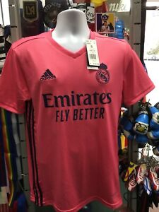Adidas Real Madrid Away 20-21 soccer jersey Pink Navy Size 2XL Men's Only