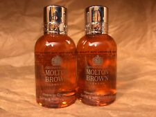 "Molton Brown London ""Heavenly Gingerlily"" Bath & Body Wash Gel (1.7oz x 2) New"