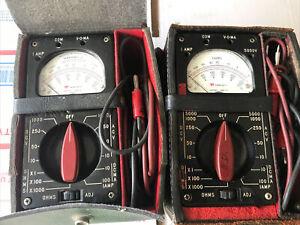 (2) Vintage TRIPLETT model 666-R , used , W/ Case  *Untested*