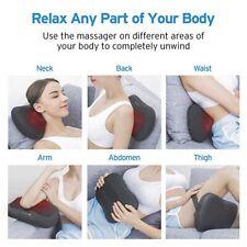 Coussin Massage Shiatsu Infrarouge Chauffant &8 Rouleaux 3D Cou/ Cervical/Nuque/