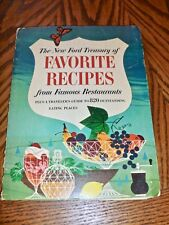 Ford Treasury of Favorite Recipes Famous Restaurants 1963 includes PRESS RELEASE