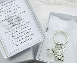 Baby Loss Miscarriage Stillborn Keyring Poem Gift Memorial Keepsake Charm BOXED