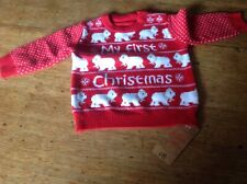 M/&S BABY 0-3 3-6 9-12 MY FIRST CHRISTMAS JUMPER LONG SLEEVE T-SHIRT TOP XMAS