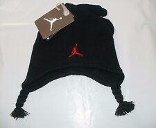 FREE SHIPPING Boys 2/4 T Air Jordan Black/Red Mittens & Braids Hat 2 pc. Set NWT