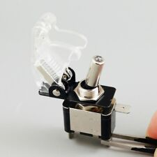 20pcs 12V Aircraft Style Toggle Switch Safety Cover White LED Car Truck ASW-07D