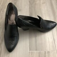Sofft Size 9M Womens Black Leather Western Ankle Shoe Boots