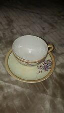 Vintage tea cup and saucer made in Occupied Japan pretty floral design