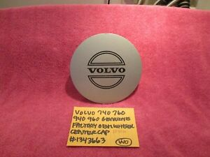 VOLVO 740 760 940 960 GENUINE FACTORY OEM WHEEL CENTER CAP # 1343663 FREE SHIPPI