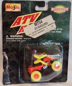 1997 Maisto die cast motorized ATV. New in package. Sealed.