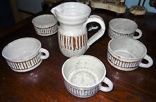 ALBERT THIRY céramique service tasses et pichet très bel état