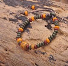 G164 E Handmade Craft Hemp Surfer Wristband Bracelet Bangle Ceramic Clay Beads