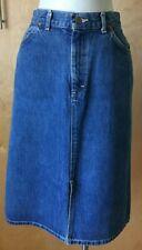 Vintage Lee Riders high waist jean denim skirt retro size 11, modern size 8 90's