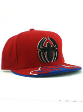 New Era Spider-Man 59fifty Custom Fitted Hat Size 7 1/4 Marvel Comics Heroes Red