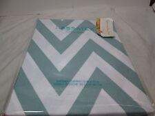 New Kassatex Fine Linens Chevron Fabric Shower Curtain 72x72 - Spa Blue/White