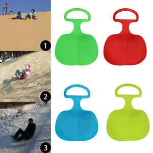 Outdoor Plastic Skiing Boards Sled Luge Snow Grass Sand Board Play Tool Portable